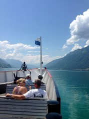 The bow of the Lake Brienz boat