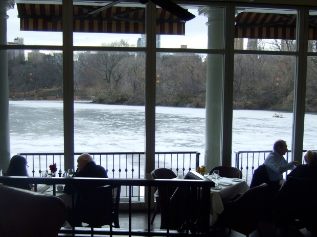 I visited the Boathouse in the winter when the lake was frozen over