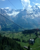 The cable car to First