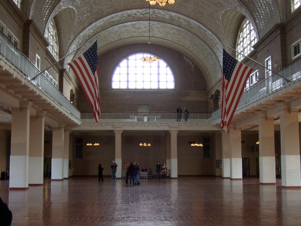 Millions of immigrants passed through this hall.