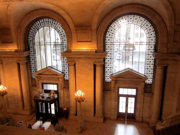 The architecture of the library is gorgeous - the reading rooms are even more beautiful, but pictures aren't allowed