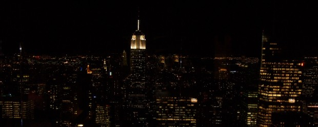 The view of the Empire State Building from Top of the Rock