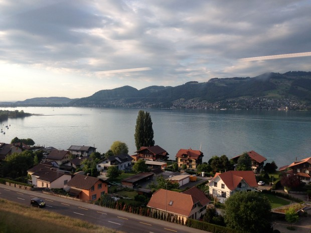 The view from the train to Interlaken